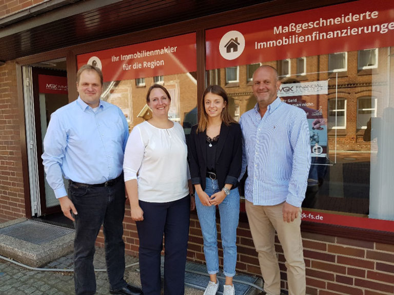 Das MGK Team. Thorsten Klahr, Claudia Schwarz, Angelique Mevius und Lars Peters.
